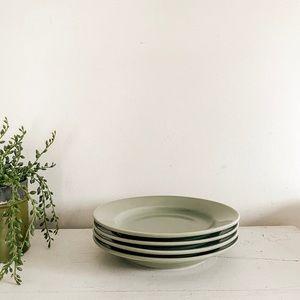 Set of 4 seafoam green salad plates